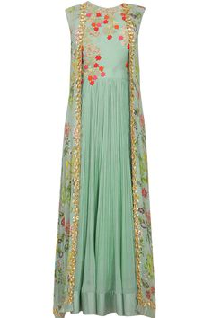 Ridhi Mehra presents Anarkali with printed jacket and churidar. Lehenga, Anarkali Dress, Pakistani Dresses, Party Wear Indian Dresses, Sabyasachi, Anarkali Suits, Indian Attire, Indian Wear, Indian Outfits