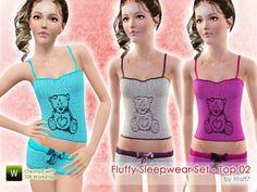 tifaff7's Fluffy Sleepwear Set - Top 02 (Teen)