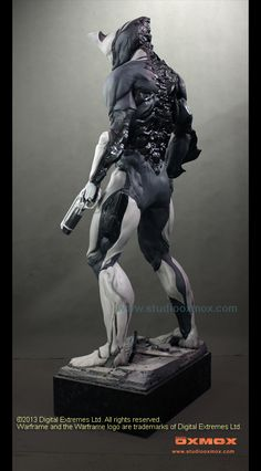 Warframe, full size, promotion statue for TV show and exhibition, Prototype, 225 cm in height, Marc Klinnert, Gaby Klinnert, Studio Oxmox