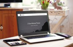 Z-1 Minimal - #Wordpress theme for building all types of #Onepage parallax site - #individual, #corporate or product.
