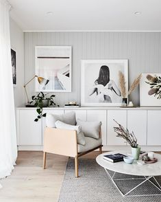 This Renovated Melbourne Home Is A Lesson In How To Perfect Scandi Style. A  Row Of Built In Storage Hides Books, Toys And Homework Clutter.
