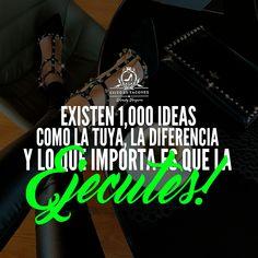De nada sirve que tengas MUY BUENAS ideas, proyectos, sueños y más!!! Si no das el paso y comienzas a REALIZARLOS!!! -WV- Comienza tu semana poniéndote en acción!!! Síguenos por Instagram @exitoentaconeswv . #exitoentacones #frase #motivacion #dequeestashecha #liderazgo #mujerimparable #quotes #inspiration #vecontodo #instapic #photooftheday #picoftheday #objetivo #sueños #accion #exito #determinacion #vision #enfoque #entrepreneur #empresaria #ConstruyendounImperio