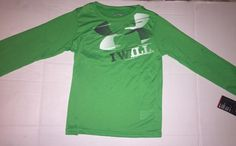 Check out this listing on Kidizen: NWT Under Armour Boys Size 5 Long Sleeve Green Shirt  via @kidizen #shopkidizen