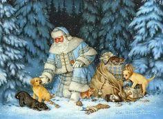 Wonderful Arctic Santa by Liz Goodrick Dillon