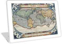 'vintage world map' Laptop Skin by ModernFaces