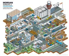 Construction services company Morgan Sindall commissioned Rod Hunt to illustrate their site set up guide.The company works on everything from small scale fit outs and utilities projects to major urban regeneration schemes.There was a needto explain to …