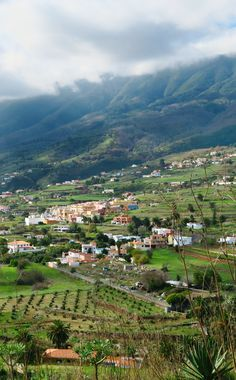 The outskirts of Santa Cruz de la Palma, as seen from Mirador de La Concepción.