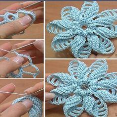"""5,972 Beğenme, 66 Yorum - Instagram'da ✨Sizin Örgüleriniz✨ (@_sizin_orgu_sunumlariniz_): """"💕💕 #pinterest#alıntı#quotation#excerpt #örgü #örgümodelleri#motif#elişi#tığişi…"""" Crochet Motif, Appliques Au Crochet, Crochet Irlandés, Freeform Crochet, Irish Crochet, Filet Crochet, Crochet Stitches, Crochet Flower Tutorial, Russian Crochet"""