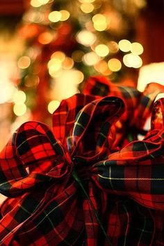 I can't imagine a world without tartan, and I especially love this gorgeous plaid during the holidays! Christmas and tartan go together at. Tartan Christmas, Merry Little Christmas, Plaid Christmas, Winter Christmas, Christmas Lights, Christmas Colors, Christmas Ribbon, Celtic Christmas, Christmas Wrapping
