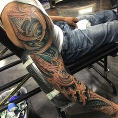 sleeve tattoo biomechanical