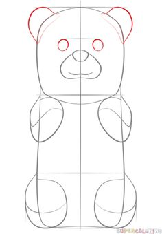how to draw a gummy bear step by step drawing tutorials for kids and beginners