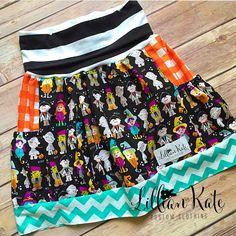 A personal favorite from my Etsy shop https://www.etsy.com/listing/245504232/halloween-skirt-girls-halloween-skirt