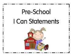 I Can Statements PK Ohio Common Core