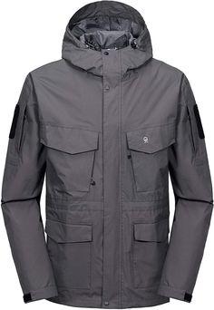Little Donkey Andy Womens Waterproof Mountain Jacket Rain Jacket Gray XS