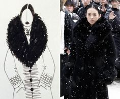 "William Chang Suk Ping/The Grandmaster. Ping admits his favorite costume from the film was a long, black coat Ziyi Zhang wore for the fight scene in a train station. ""Because she is a very small person,"" Ping explains, a giant fur collar was added to make the actress look ""more fierce."""