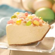 Easter hunt pie. (With sweetened condensed milk and cream cheese among the ingredients, you KNOW it has to be good!).