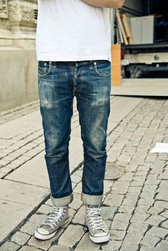 Denim Fashion, Look Fashion, Street Fashion, Man Fashion, Rugged Style, Raw Denim, Nudie Jeans, Denim Jeans, Blue Jeans