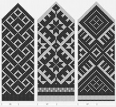 Mustrilaegas: A Kudumine / Many Knitting charts Knitted Mittens Pattern, Knit Mittens, Knitted Gloves, Knitting Socks, Knitting Charts, Knitting Stitches, Knitting Patterns, Crochet Patterns, Weaving Patterns