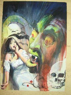 HORROR -----COVER--- EDT PETRONIO Comic Art
