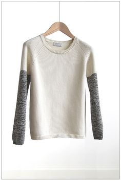 contrast sleeves - youasme