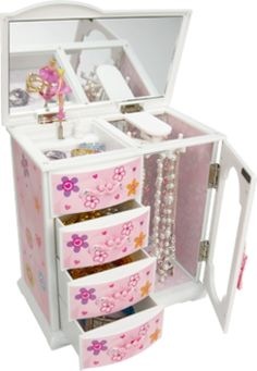 Gunther Mele - Eva - Musical Plastic Jewellery Box with Flower Petal Designs Jewellery Storage, Jewellery Box, Toys R Us Canada, Musical Jewelry Box, Plastic Jewelry, Toy Store, Elementary Schools, Decorative Boxes, Music Boxes