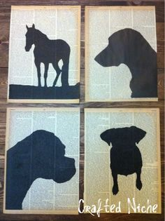 Encyclopedia PageSilhouettes Tutorial #diy #crafts #dictionary #paper #silhouettes #wall_art
