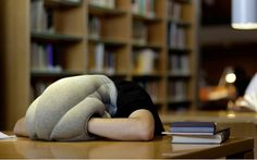"""A new product called """"Ostrich Pillow"""" claims to help users power nap anywhere and everywhere."""
