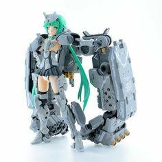 Combat Suit, Frame Arms Girl, Gundam Custom Build, Robot Girl, Fantasy Armor, Anime Figures, Anime Comics, Iron Man, Sculptures