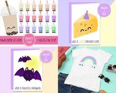 Kawaii Shop, Cute Diys, Bubble Tea, Craft Kits, Birthday Cards, Bubbles, Clip Art, Diy Crafts, Digital