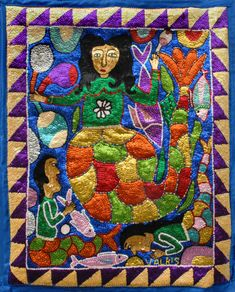 Sequin and beaded Lasirene Haitian Flag by Georges Valris  (I have been working on one of these for the last 2 years!)