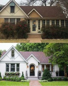 Today I am sharing some before and after action! These ten exterior makeovers are full of ideas on how you can give your own home a facelift.
