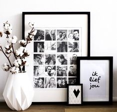 binnenkijken bij nicolewillemse - Homedeco.nl Diy Best Friend Gifts, Decoration Photo, Polaroid Pictures, Collage Frames, Elegant Homes, Photo Displays, Interior Design Living Room, Room Inspiration, Photo Wall