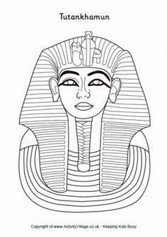 Ancient Egypt Eagle God Horus Emblem Coloring Page
