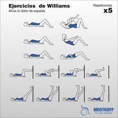 Los ejercicios se realizan 15 repeticiones de cada uno Se repite la rutina tres veces al día  En caso de molestia suspender el mismo y consultar a su médico.