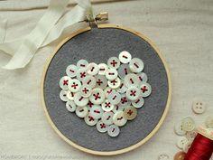Vintage Button Heart
