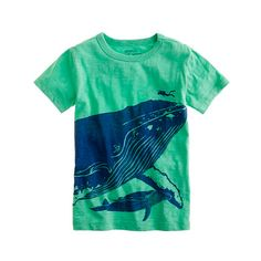 My daughter loves to read about sea life.  I especially love the whale tail on the back of this shirt!  From J. Crew, only size 14 still available.