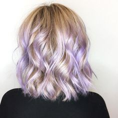 87 unique ombre hair color ideas to rock in 2018 - Hairstyles Trends Ash Brown Hair Dye, Purple Blonde Hair, Light Purple Hair, Purple Balayage, Purple Wig, Blonde Hair With Highlights, Balayage Hair, Lavender Highlights, Blonde Hair With Purple Tips