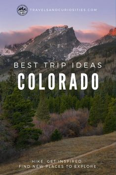 Explore these must-see destinations in Colorado that will fuel your inspiration for wilderness exploring. Us Travel Destinations, Places To Travel, Hiking Places, New Travel, Travel Usa, Canada Travel, Family Travel, Travel Guides, Travel Tips