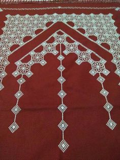 This Pin was discovered by Hül Prayer Rug, Crochet Borders, Prayers, Cross Stitch, Rugs, How To Make, Gifts, Towels, Crossstitch