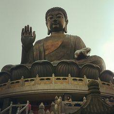 Biggest Buddha statue in the world. #HongKong