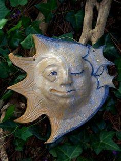 Half SunHalf Moon Pottery Face Mask by edMUDson on Etsy, $48.00