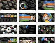 Hexagons PowerPoint by SageFox