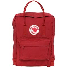 Fjall Raven Kids-girls 7l Kanken Mini Nylon Backpack (1,800 EGP) ❤ liked on Polyvore featuring red