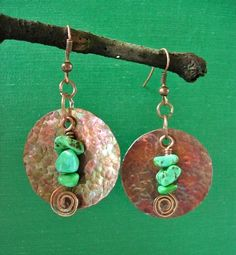 Hand Hammered Copper Earrings