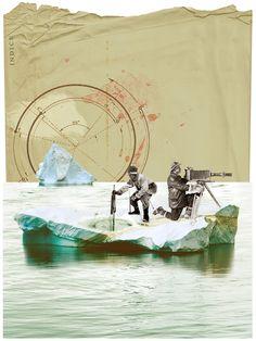 """Ruben Torras presentarà la seva nova exposició """"Arqueologies"""" a la Galeria Atellier de Barcelona des de demà dijous 9 d'octubre fins al 21 d'octubre. Ruben Torras, artista català, treballa la pintura i el collage en una barrega de diferents tècniques. Recupera fotografies antigues dels primers exploradors, les descontextualitza i hi introdueix un nou paisatge, creant …"""