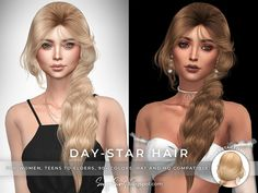 Volleyball Hairstyles, Sporty Hairstyles, Teen Hairstyles, Female Hairstyles, Maxis, Sims 4 Cas Mods, Bangs Ponytail, Game Day Hair, Sims 4 Black Hair