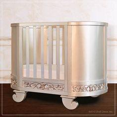 Bratt Decor Chelsea Darling Crib and Cradle Antique Silver Nursery Crib, Baby Crib Bedding, Baby Cribs, Girl Nursery, Crib Sets For Boys, Baby Crib Sets, Baby Crib Designs, Convertible Crib, Nursery Design