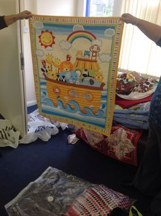 Noah's Ark panel Children In Need, Quilt Making, Ark, Diy Projects, Quilts, Blanket, Quilt Sets, Handyman Projects, Blankets