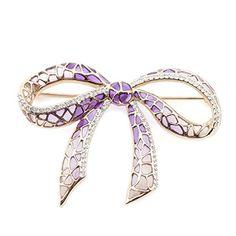 Purple Deco Bow by Jeremy Tosh l £95 l V&A Shop #Christmas #Jewellery