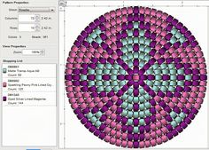 round peyote http://imaginesque.blogspot.com/2013/10/beading-peyote-stitch-pattern-5-round.html